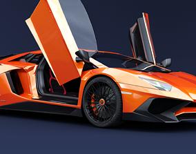 3D model Lamborghini Aventador SV high
