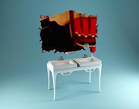 modern washstand 3D model
