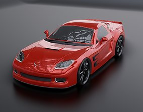 Corvette car 3d model realtime