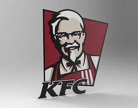 KFC logo 3D