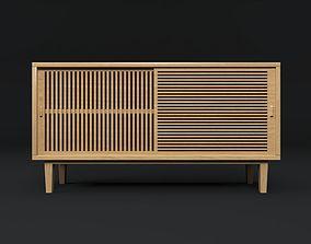 cupboard wood 3D