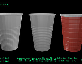 3D model low-poly Plastic cup