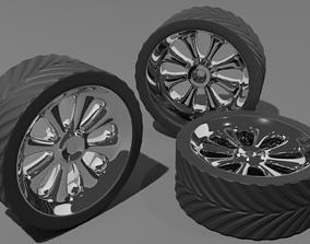 3D model Hot rod chrome wheel