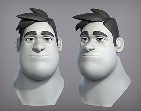 3D model Cartoon male character Harold base mesh