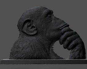 Chimpanzee statue 3D print model