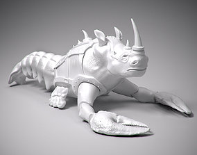 Crayfish with rhino head statue 3D printable model