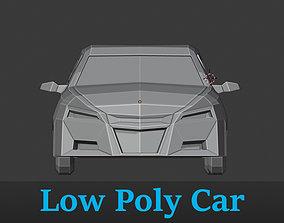 3D asset Low Poly Vehicle