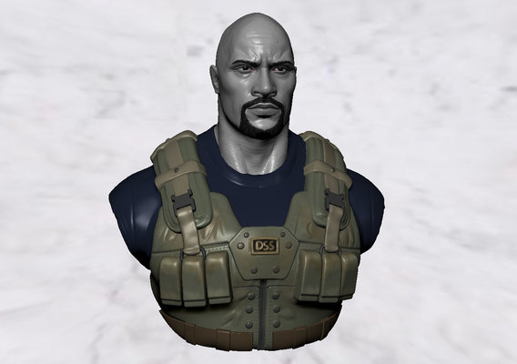 Dwayne Johnson wip