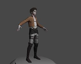 Eren Jaeger from Attack on Titan 3D