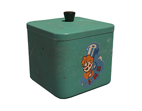 3D model Realistic Old Kitchen Container