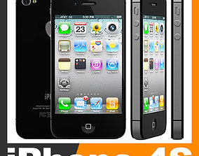 3D Apple iPhone 4S electronics