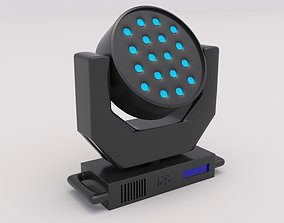 3D model Moving Head Spot Wash 02