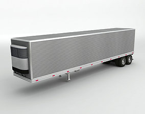 Refrigerated Box Trailer For Semi Truck 3D asset