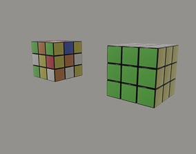 Rubiks Cube brain 3D asset VR / AR ready