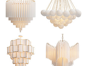 Collection of Modern Chandelier 3D model