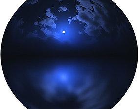 3D 4k HDR Night Moon Sky