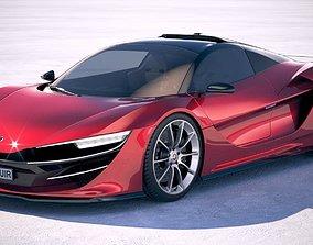 Generic Supercar v3 2018 3D model