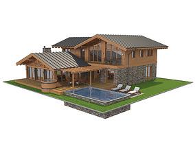 Chalet House 2 3D model