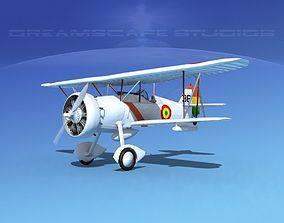 3D model Curtiss F-11-C2 Goshawk V07