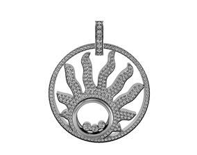 3D printable model brilliant Pendant sun