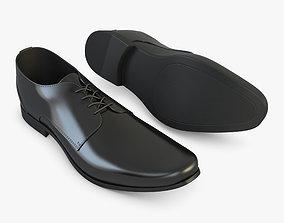Black Leather Shoes 3D model