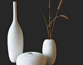Decor wheat in a vase 3D model