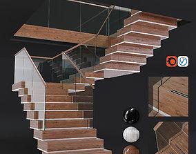 Modern staircase 3D asset