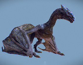 Irval the Wyvern 3D asset animated