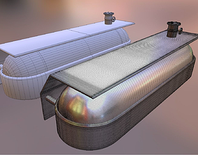 3D model Fuel Tank Low and High Poly Work File