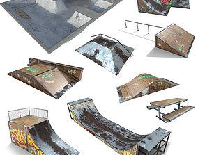 realtime Skate Park Model PACK PBR Textures