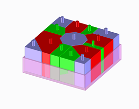 High Quality Kids Block Puzzle - TYPE B - 3D print model 1