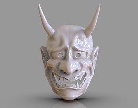 Classic Japanese Oni Mask and ZBrush 3D print model