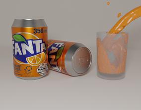 3D asset Fanta Juice
