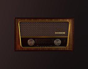 3D asset Classical antique retro vintage radio