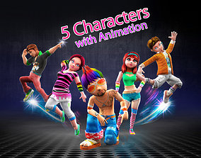 Character animation pack CA05 3D model