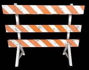 Road barricade 3D model PBR