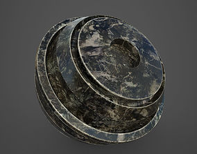 3D model Black Marble substance painter smart material