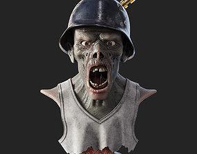 3D model Zombie Bust creature