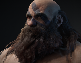 Dwarf Game Ready Low-poly 3D model animated