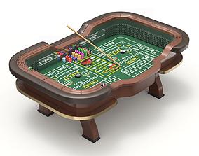 3D model Craps Table