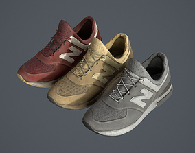 Sneaker with Color Variations PBR 3D model