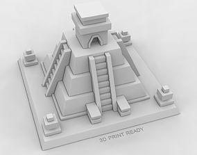 Mayan Temple 3D print model