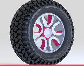 Offroad Tire Wheel Design Rim3 3D asset