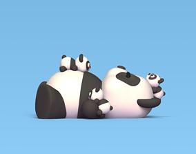 3D printable model Panda and Babies