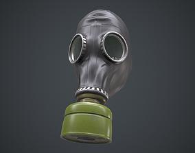 3D asset GP-5 USSR gas mask black