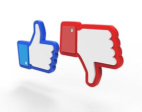 3D Facebook Like