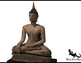 Ancient Buddha Statue 3D model