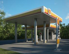 3D model Shell gas station 001