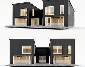 3D asset Villa house 6