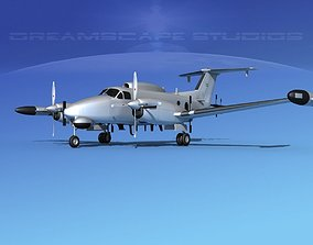 Beechcraft RC-12Q Guardrail Bare Metal 3D model